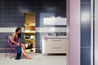 Siko - fa Rako serie Vanity zelene odstiny vrchni koupelna