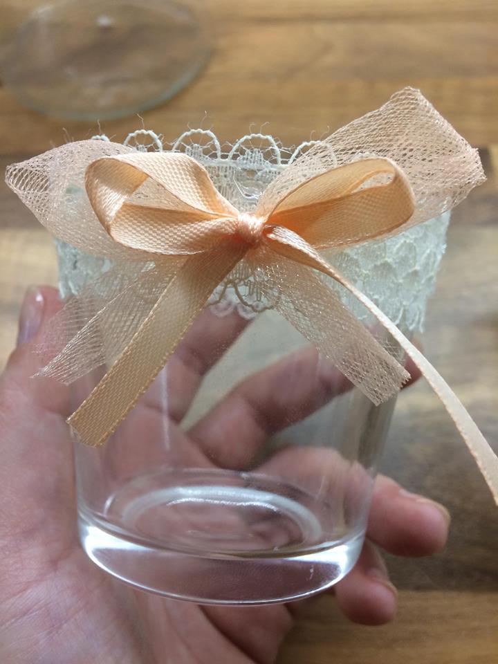 Naše svatební přípravy K+P - Tyto svícínky jsem vyrobila společně se snoubencem a myslím, že se nám docela povedly :)