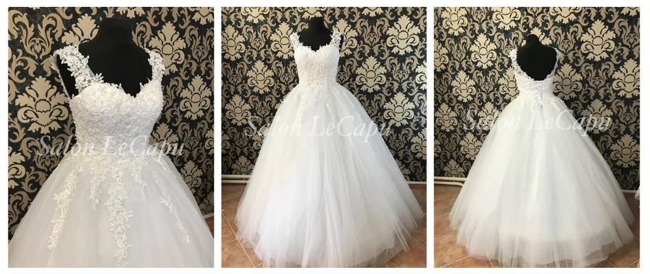 Naše svatební přípravy K+P - Tyhle šaty byly láska na první pohled! Už čekají na svůj den doma :)
