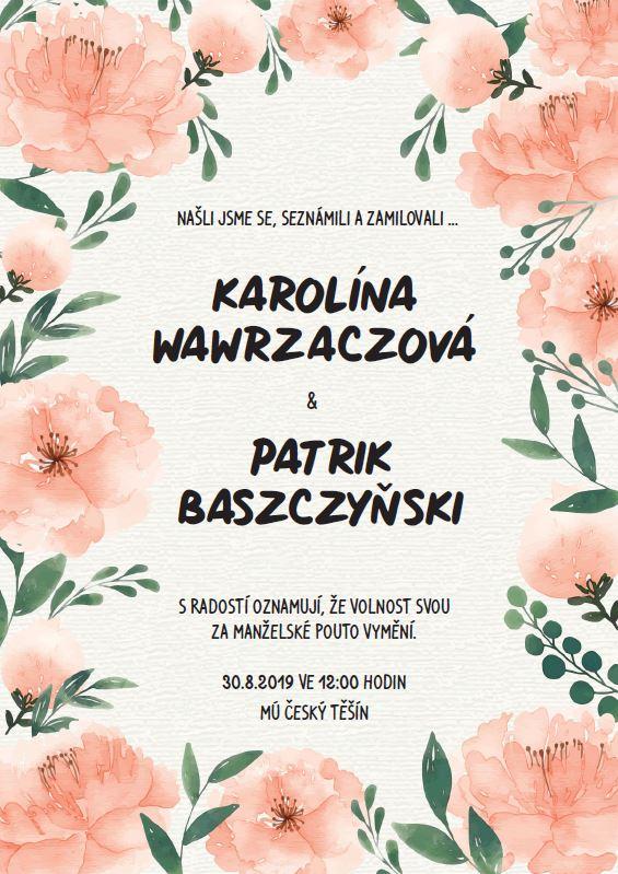 Naše svatební přípravy K+P - Dodělala jsem svatební oznámení. Co na něj říkáte? :)