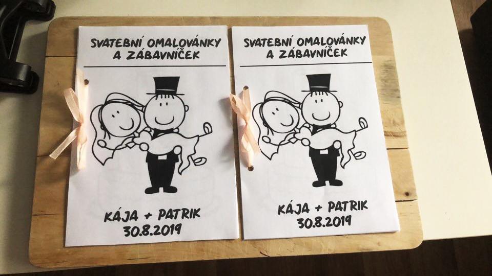 """Naše svatební přípravy K+P - Na svatbě budu mít dvě malé družičky (moje sestřičky), tak jsem jim vytvořila """"zábavníček"""", aby se nenudily :) Co dalšího bych jim mohla připravit?"""