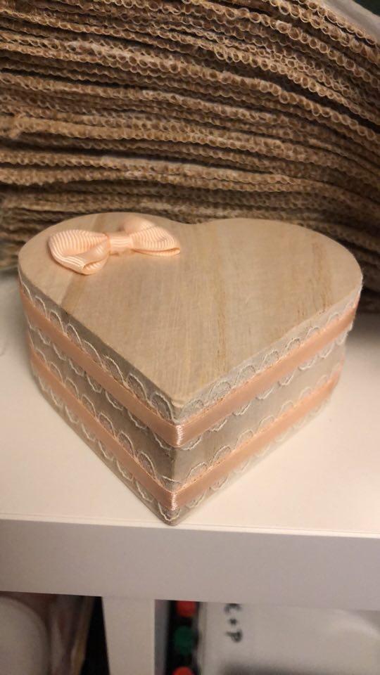 Naše svatební přípravy K+P - Krabička na prstýnky :)