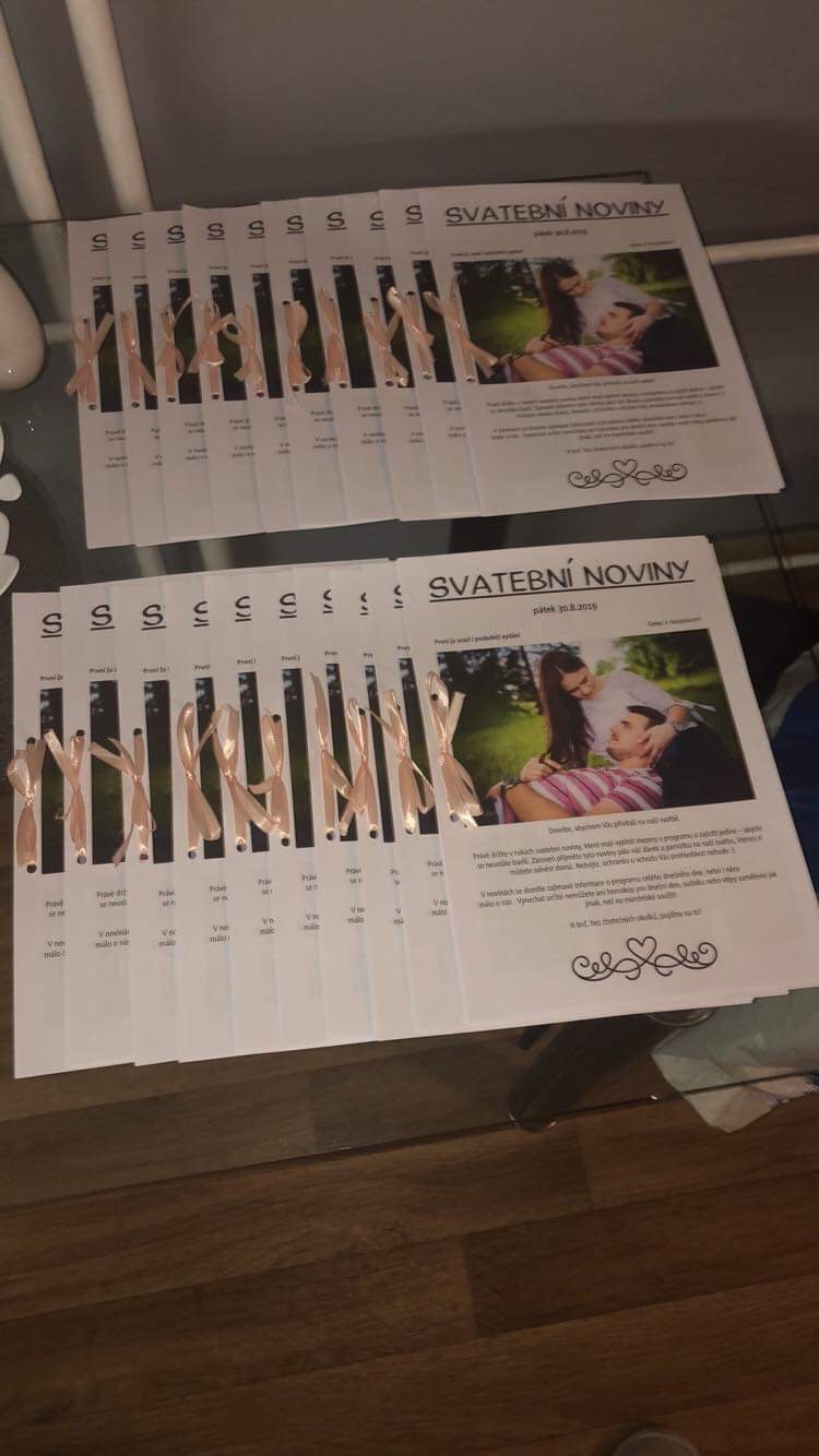 Naše svatební přípravy K+P - Naše svatební noviny 😁
