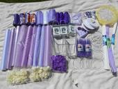 Velká levadulová svatba -bílé, fialové dekorace,