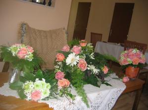 Kytky den po svatbe, nevestina, pro maminku, svedkyne i korsaz.