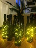 Ozdobné svítící art-deco lahve,