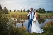 Svatební šaty z krajky ze Švýcarska, 36