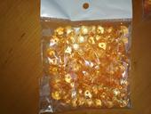 Krystaly diamanty zlata-oranžová ,