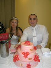 svadobná torta bola úplne super, škoda, že sa nám moc neušlo