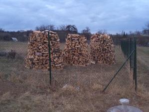Nachystané dřevo na zimu