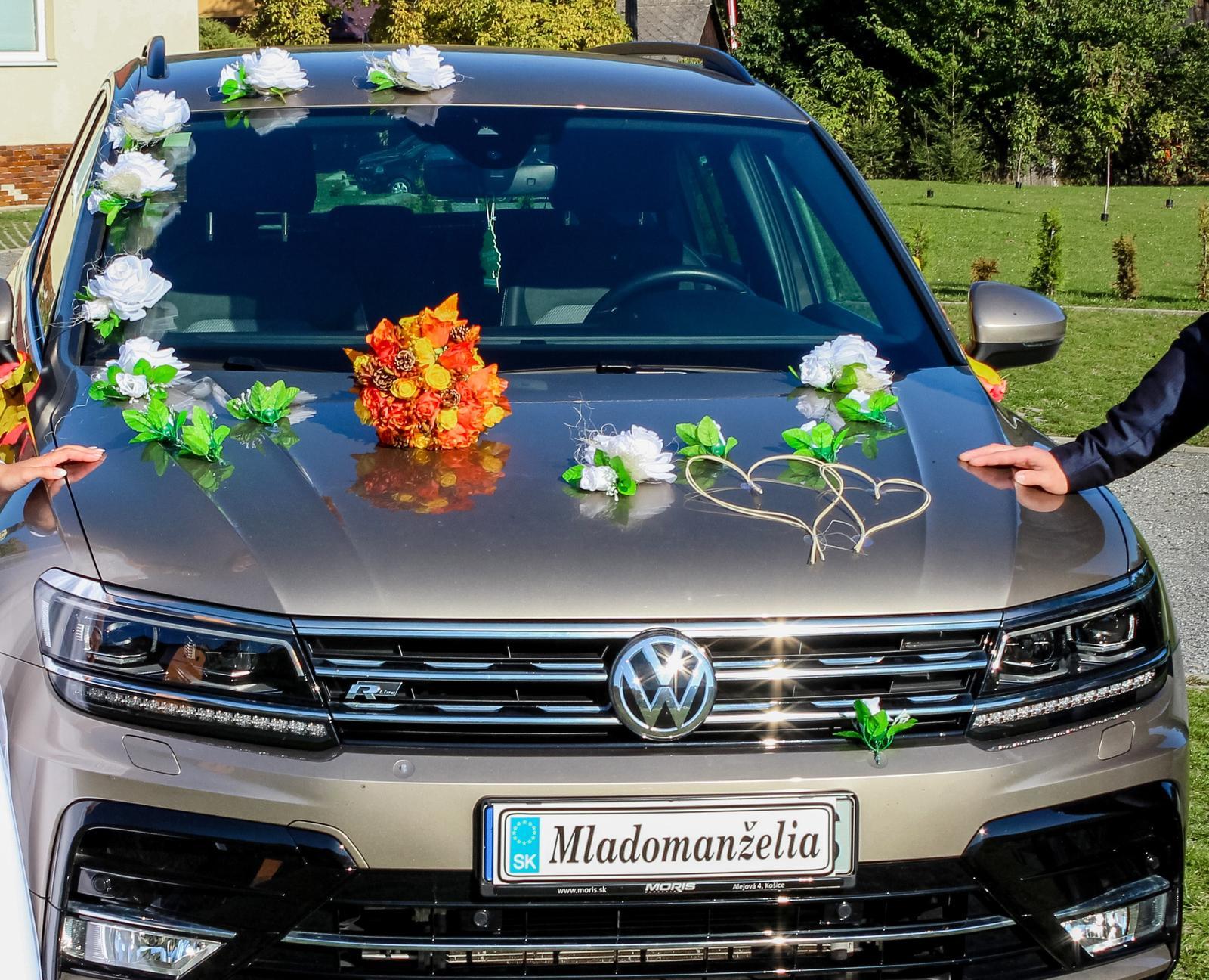 Svadobná výzdoba na auto - Obrázok č. 1