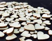 Drevený výrez srdiečko 0,6-1,2 cm LACNO,