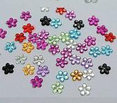Akrylové kvietky 6 mm,