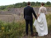 Krajkové svatební šaty vel. 40, 40
