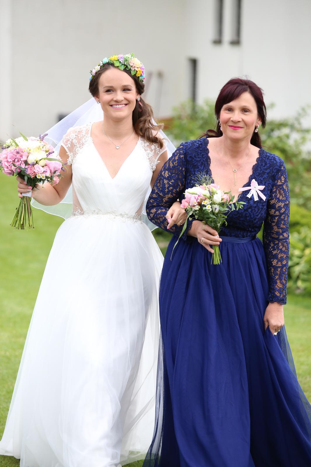 Dlouhé modré šatičky na svatbu i na ples - Obrázek č. 3