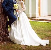 ZĽAVA - Svadobné šaty č. 38, kruhová sukňa zdarma, 38