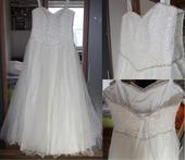 Svadobné šaty - zdobený korzetik, 40