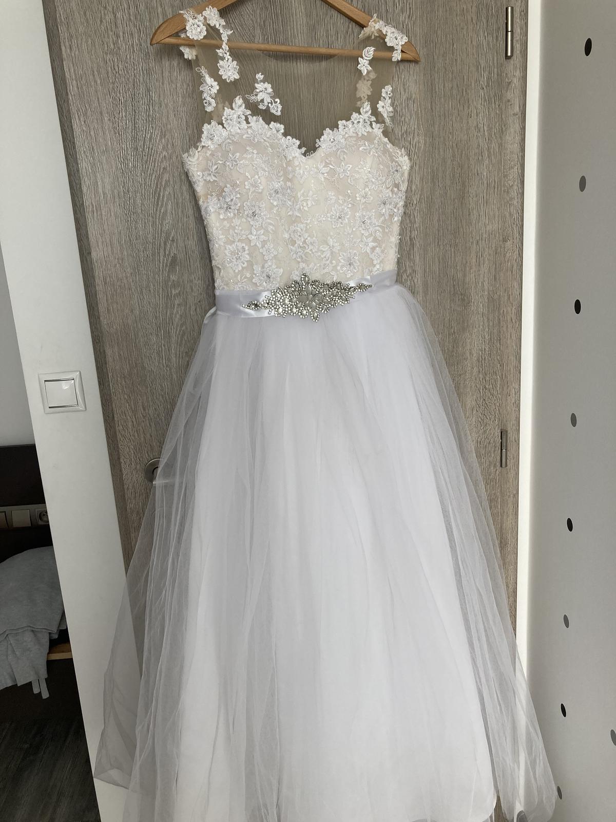 svadobné šaty veľkosť 34-36 - Obrázok č. 1