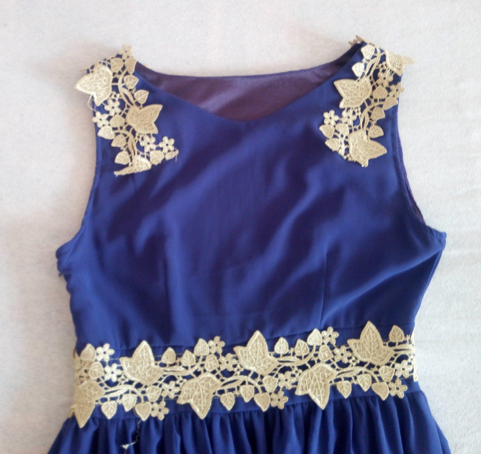 Fialové dlhé spoločenské šaty XS/S - Obrázok č. 2