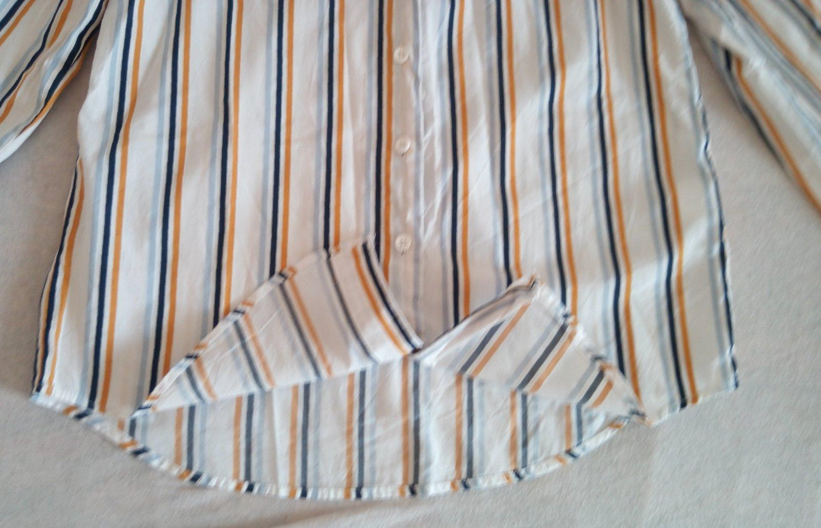 Biela pásikavá blúzka Reserved XS - Obrázok č. 4