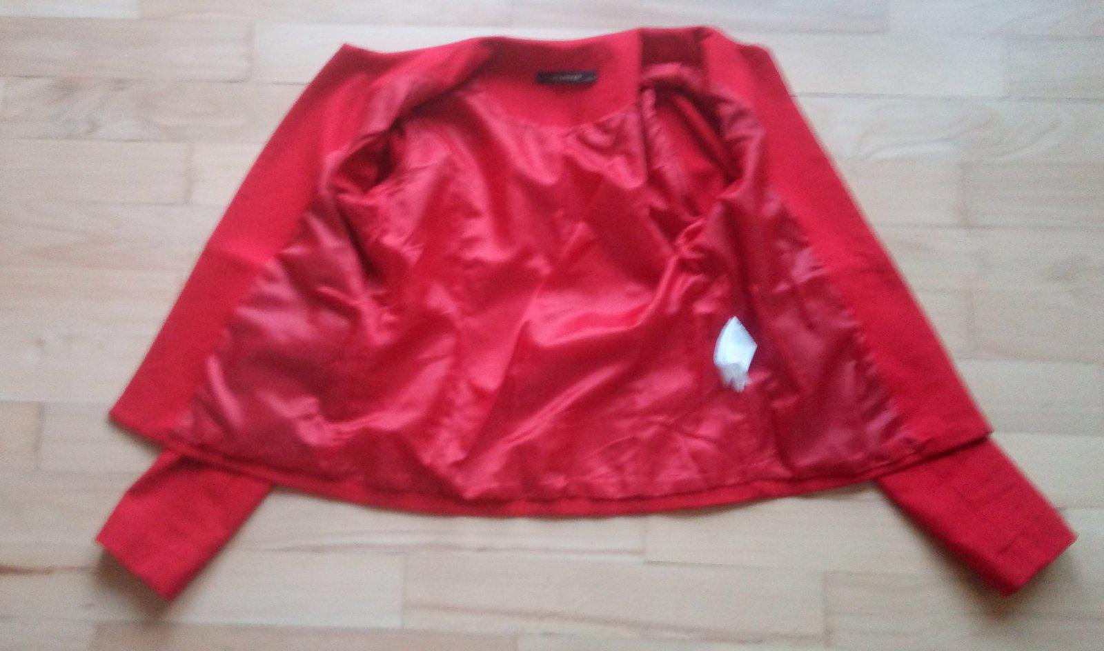 Červené sako Reserved XS - Obrázok č. 3