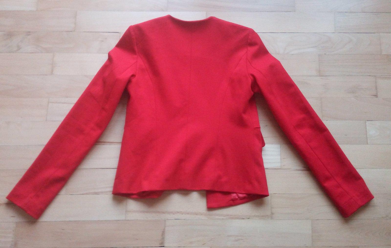 Červené sako Reserved XS - Obrázok č. 4