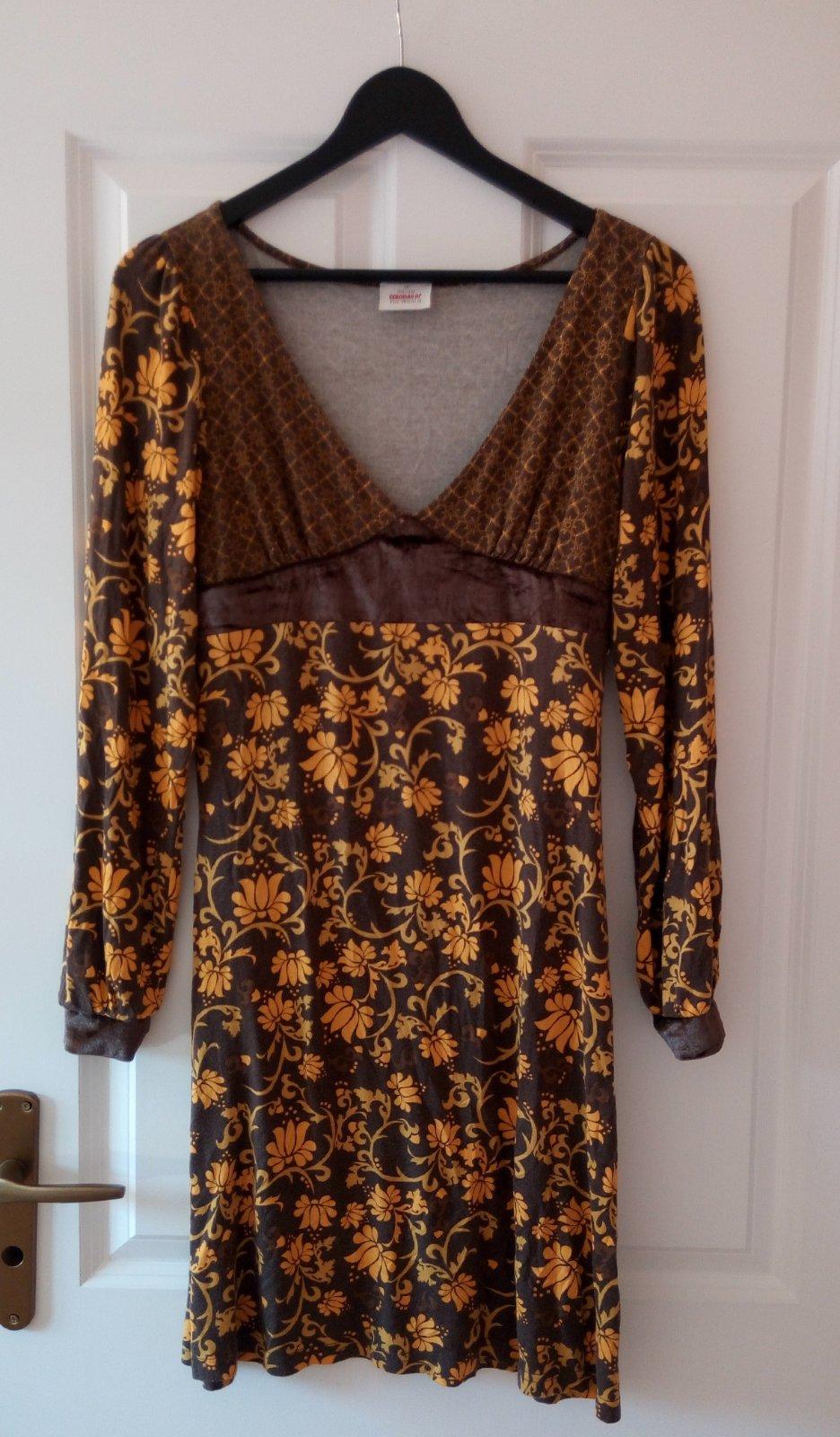 Kvetované žlté šaty M/L - Obrázok č. 3