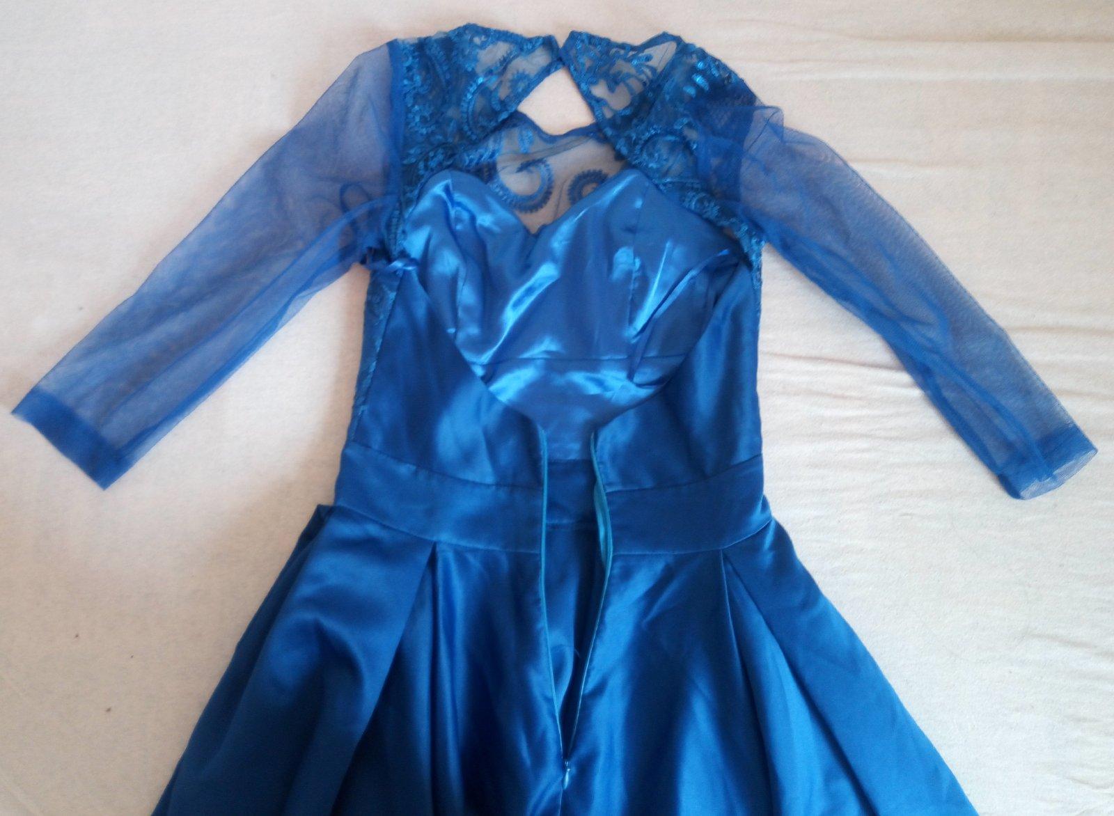 Kráľovsky modré šaty XS - Obrázok č. 4