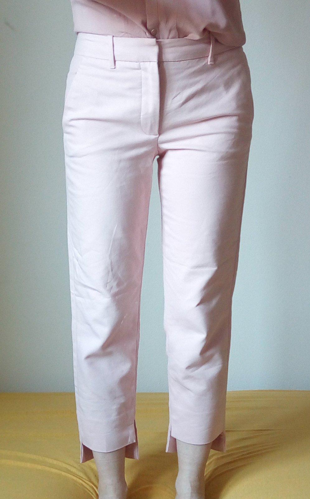 Bledoružové nohavice Zara S - Obrázok č. 1
