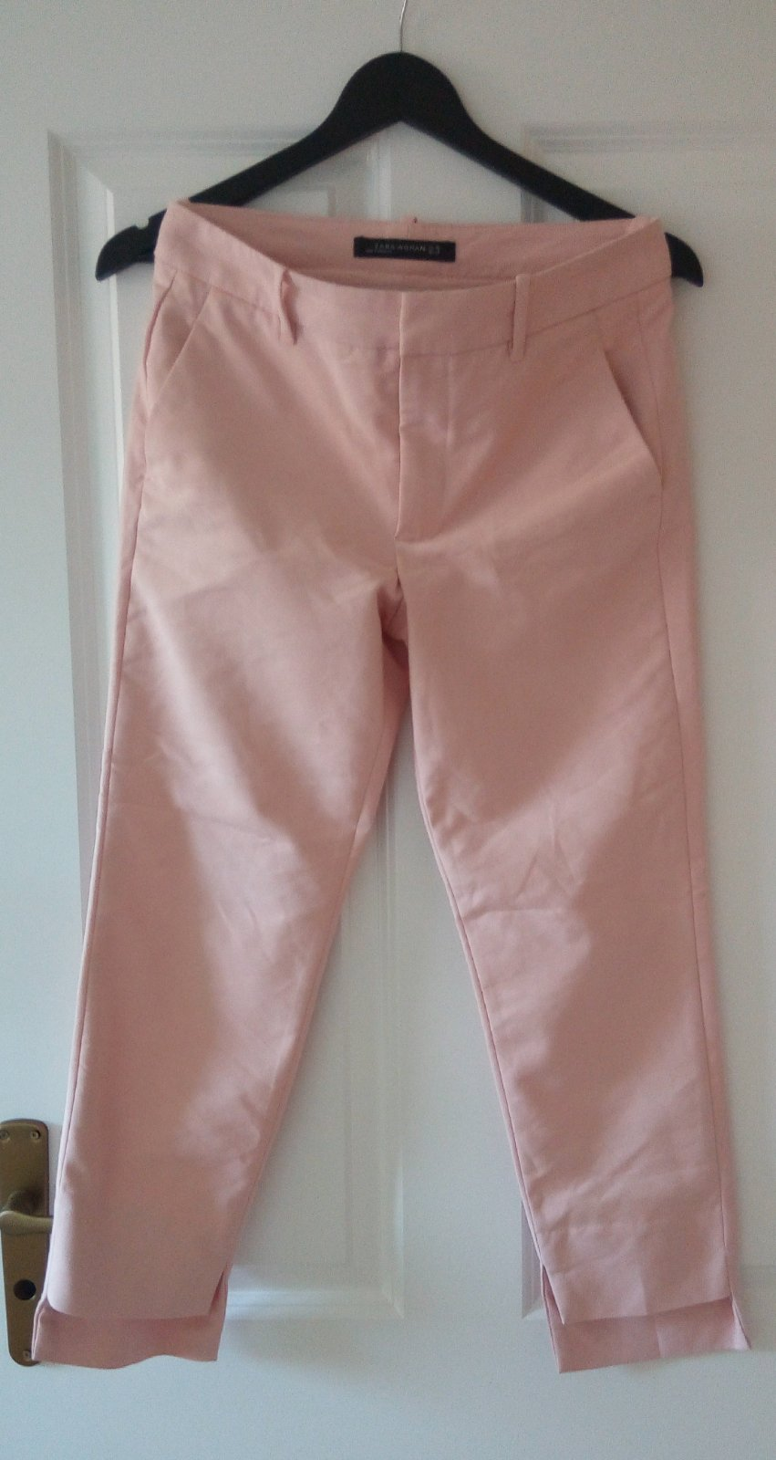 Bledoružové nohavice Zara S - Obrázok č. 3