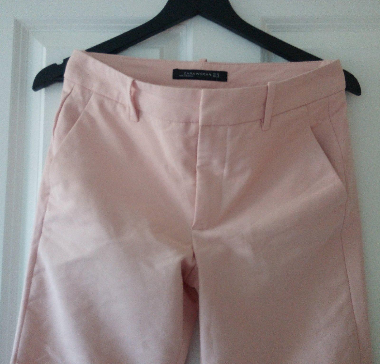 Bledoružové nohavice Zara S - Obrázok č. 4