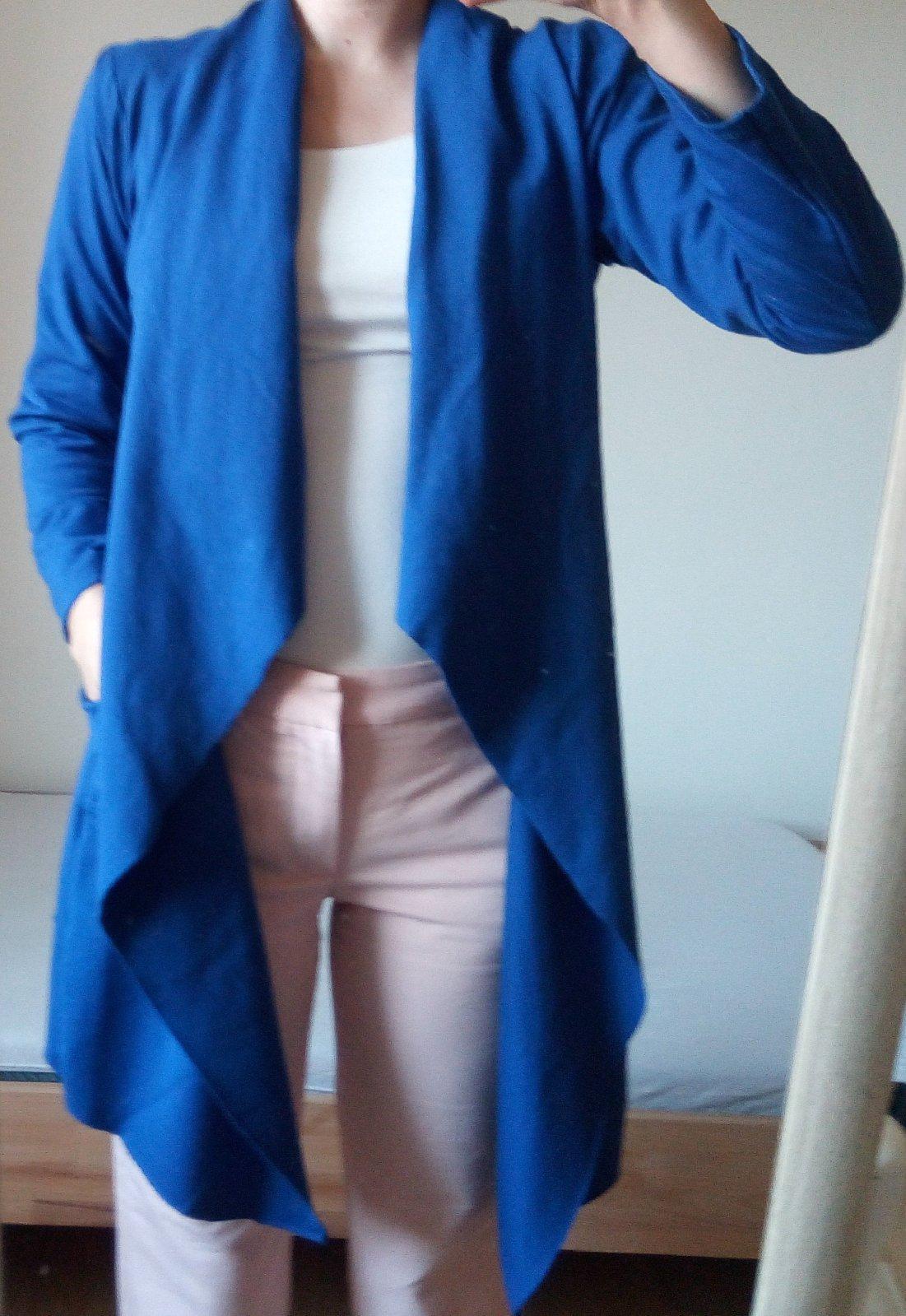 Kráľovsky modrý kardigan - Obrázok č. 1