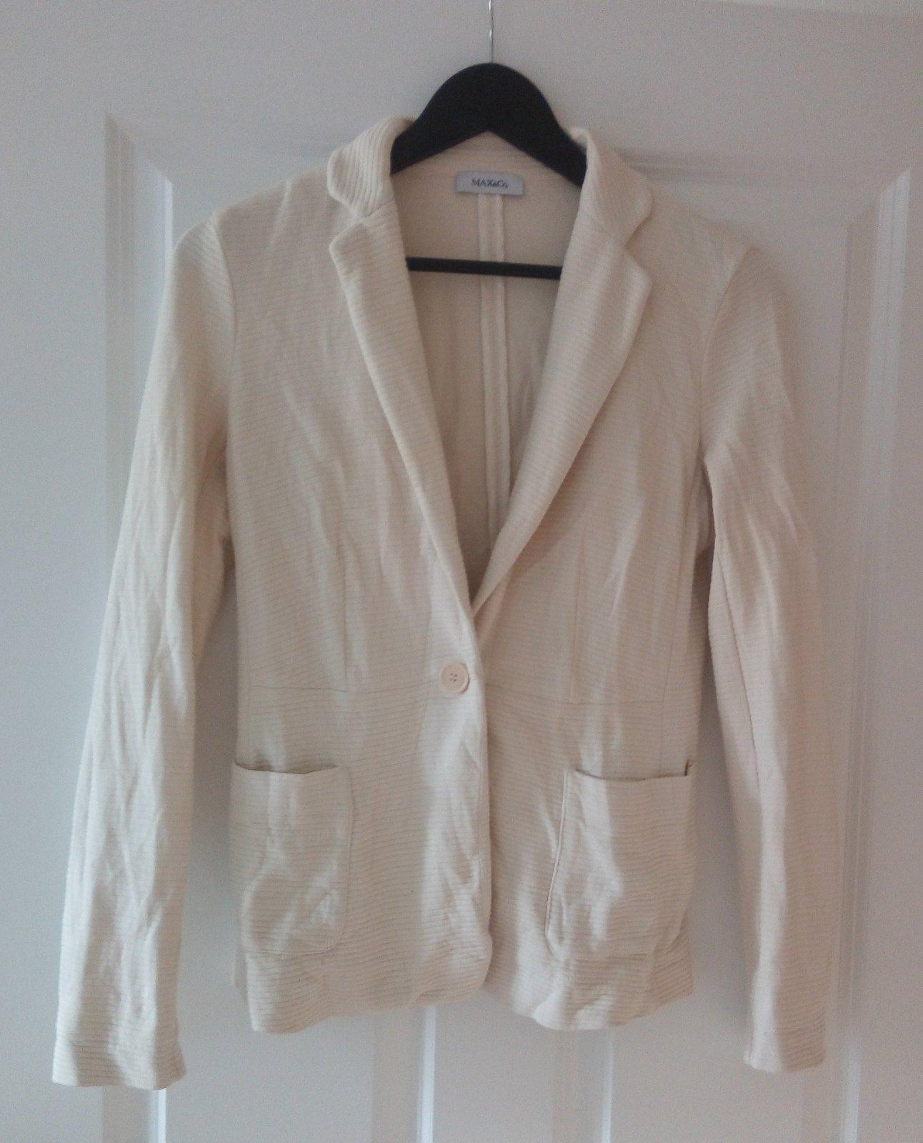 Bledé bavlnené sako S - Obrázok č. 1