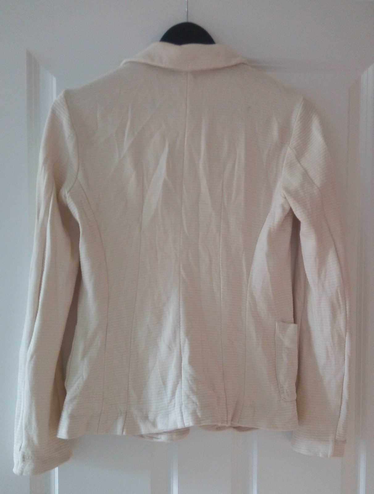 Bledé bavlnené sako S - Obrázok č. 3