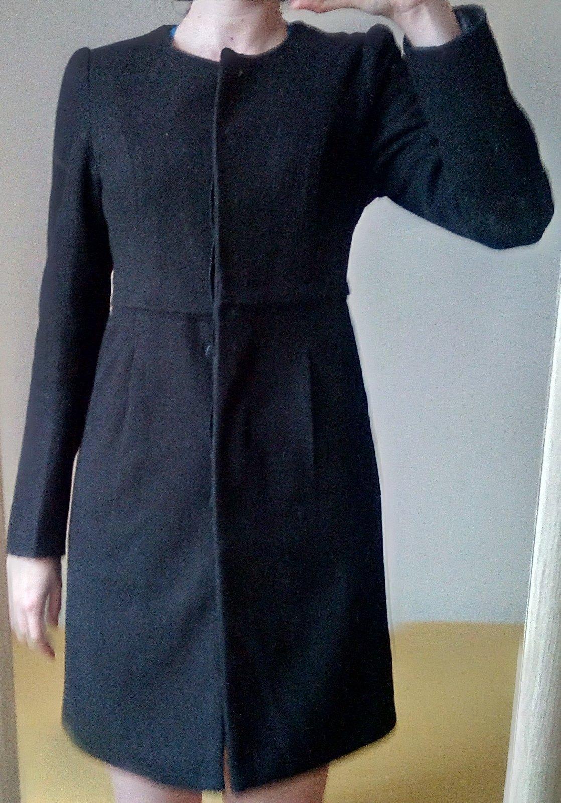 Čierny kabát/sako S - Obrázok č. 1