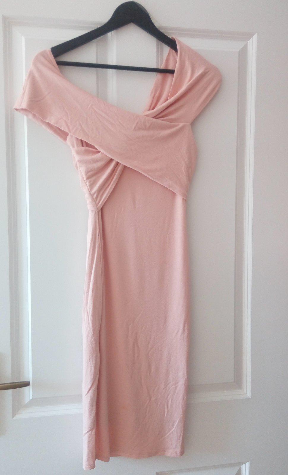 Bledoružové šaty XS/S - Obrázok č. 1