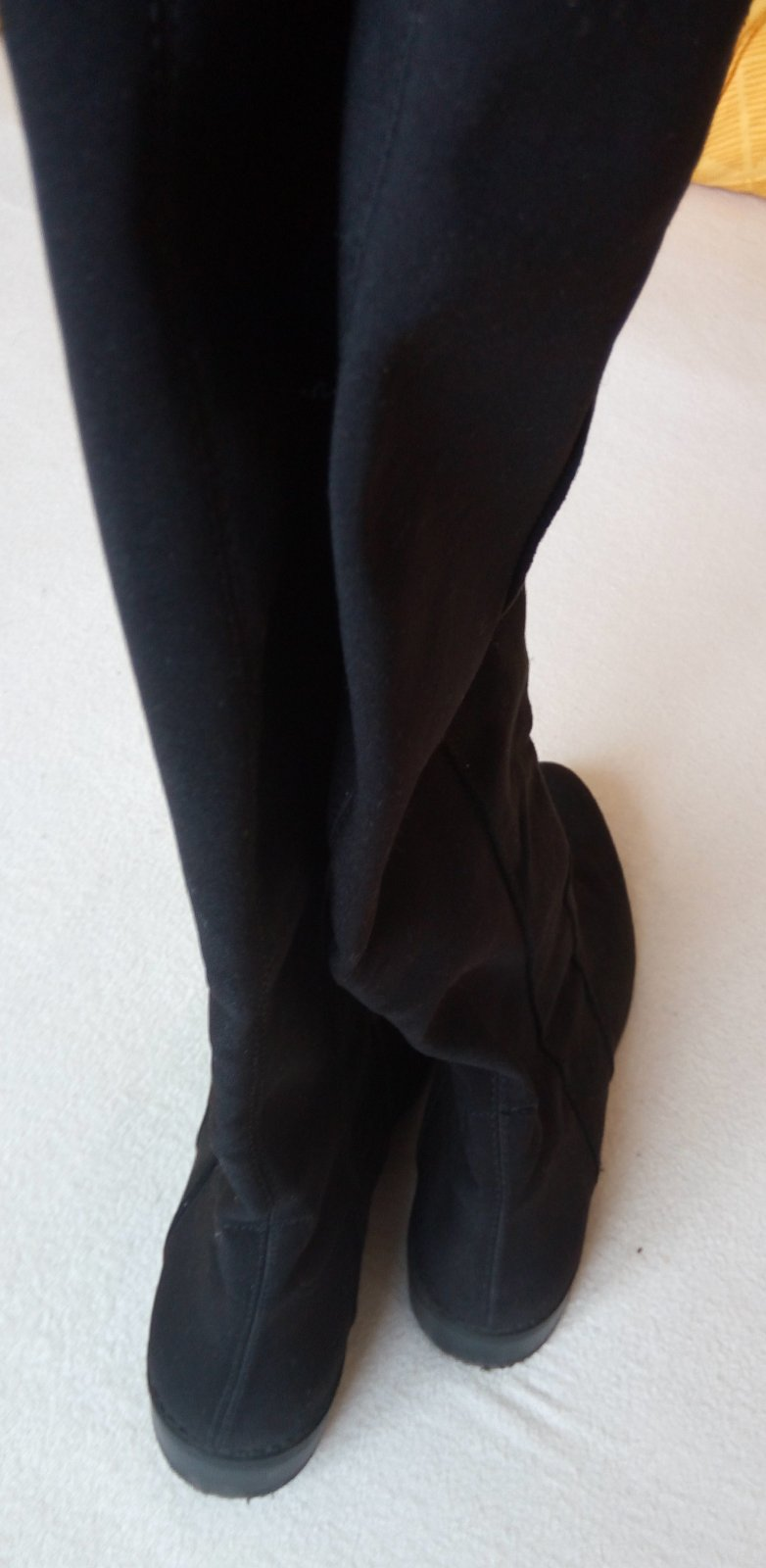 Čierne vysoké čižmy 38 - Obrázok č. 2