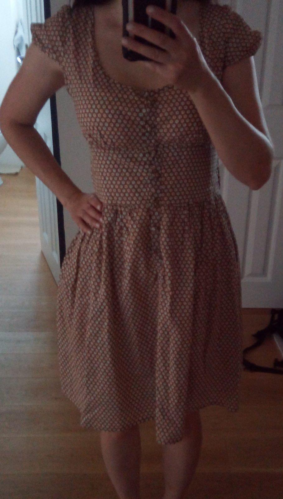 Vzorované hnedé šaty Topshop S - Obrázok č. 3