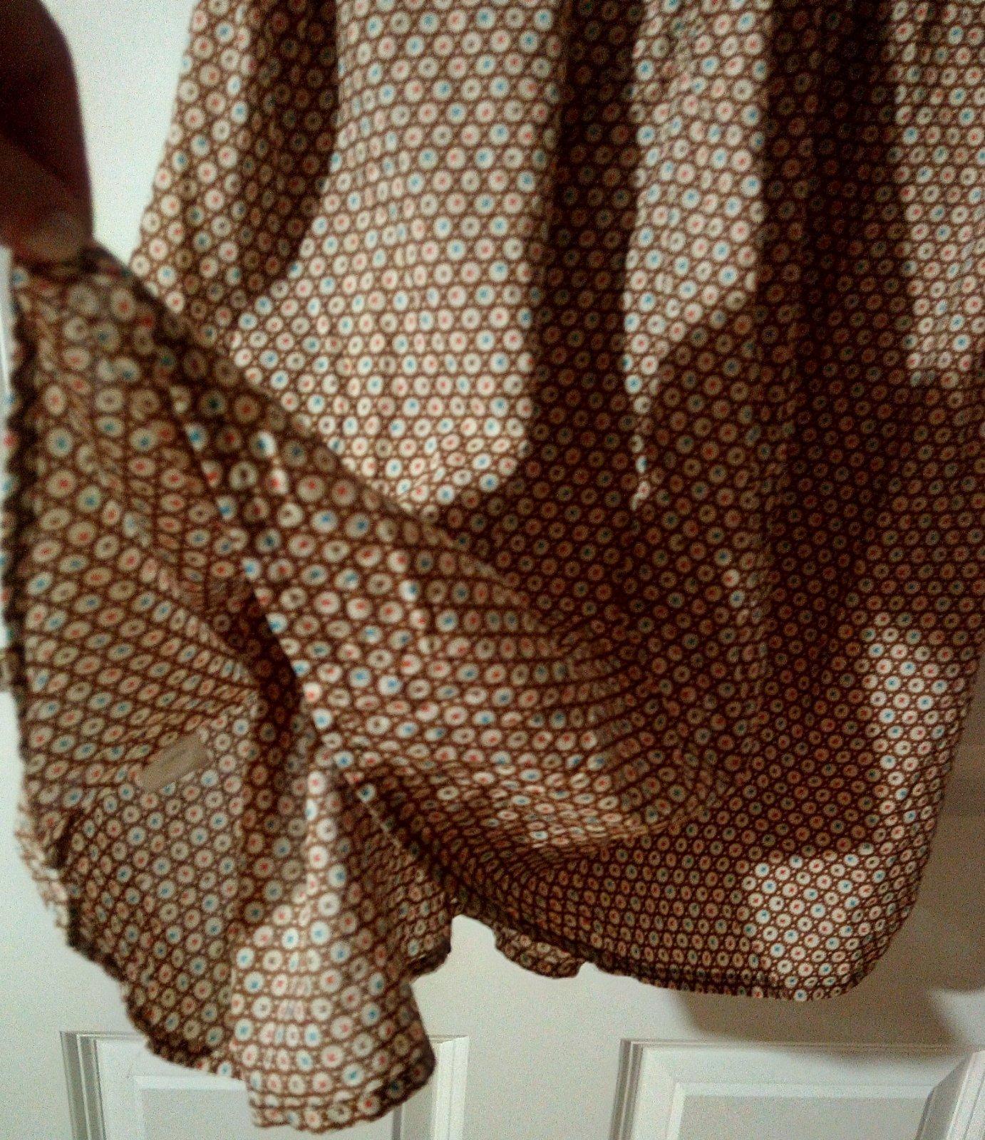 Vzorované hnedé šaty Topshop S - Obrázok č. 2