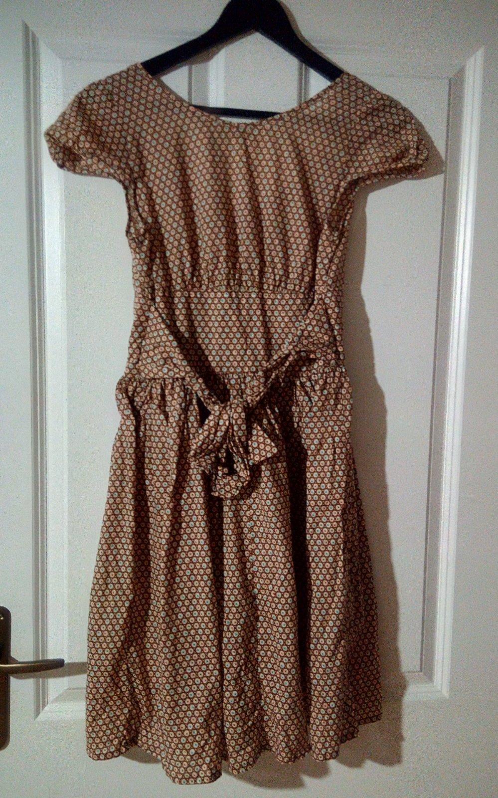 Vzorované hnedé šaty Topshop S - Obrázok č. 4