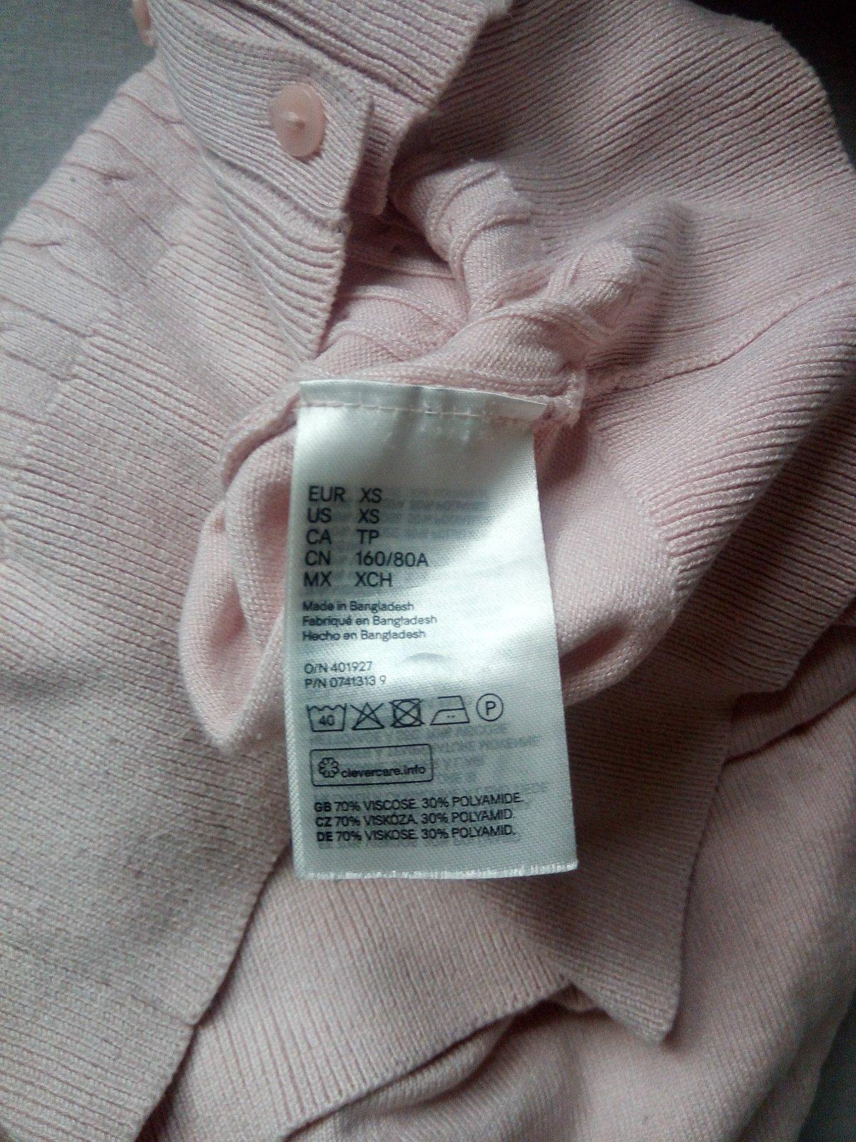 Bledoružový svetrík H&M, XS - Obrázok č. 3