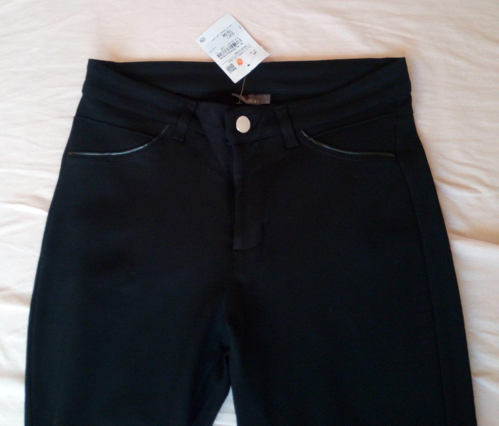 Čierne elegantné nohavice S - Obrázok č. 3