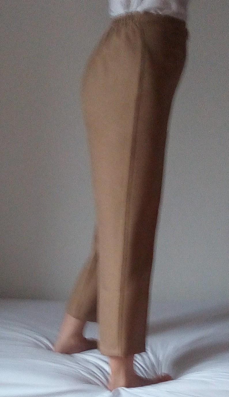 Hnedé elegantné nohavice S/M - Obrázok č. 2