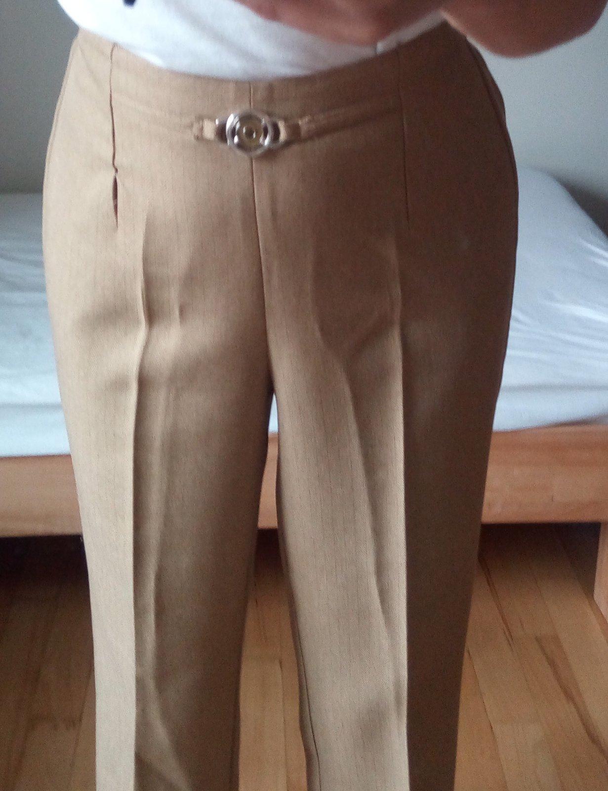 Hnedé elegantné nohavice S/M - Obrázok č. 3