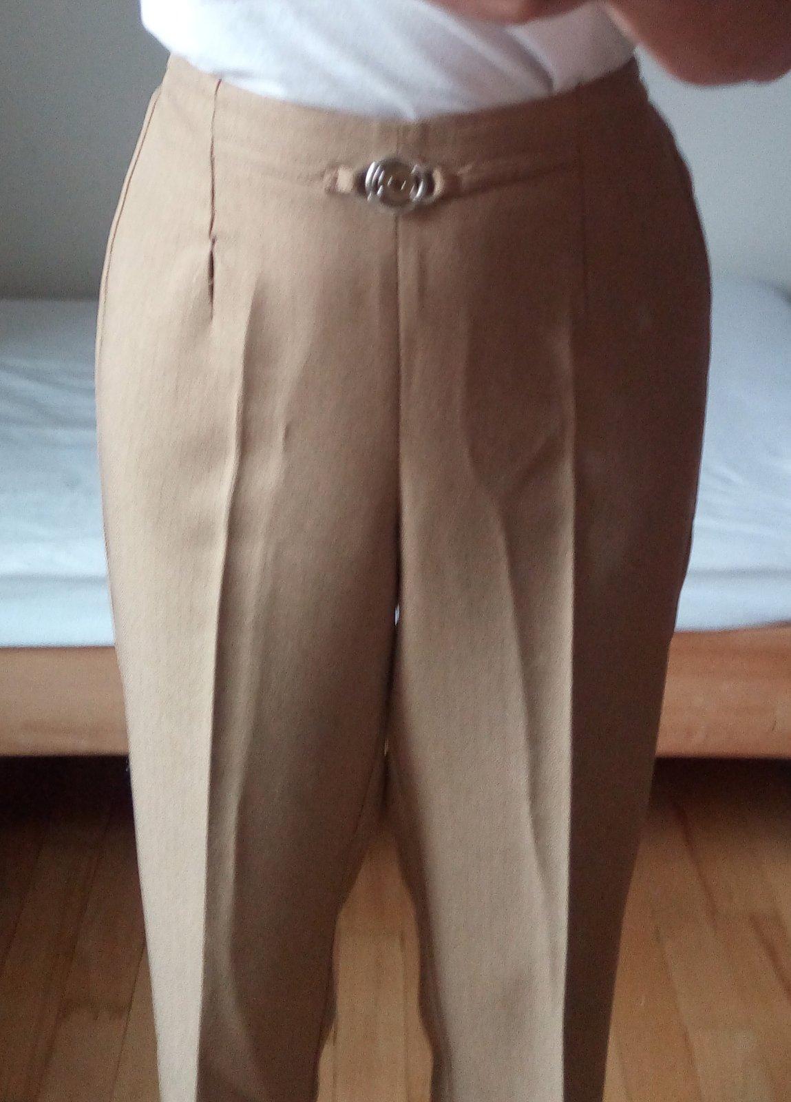 Hnedé elegantné nohavice S/M - Obrázok č. 4