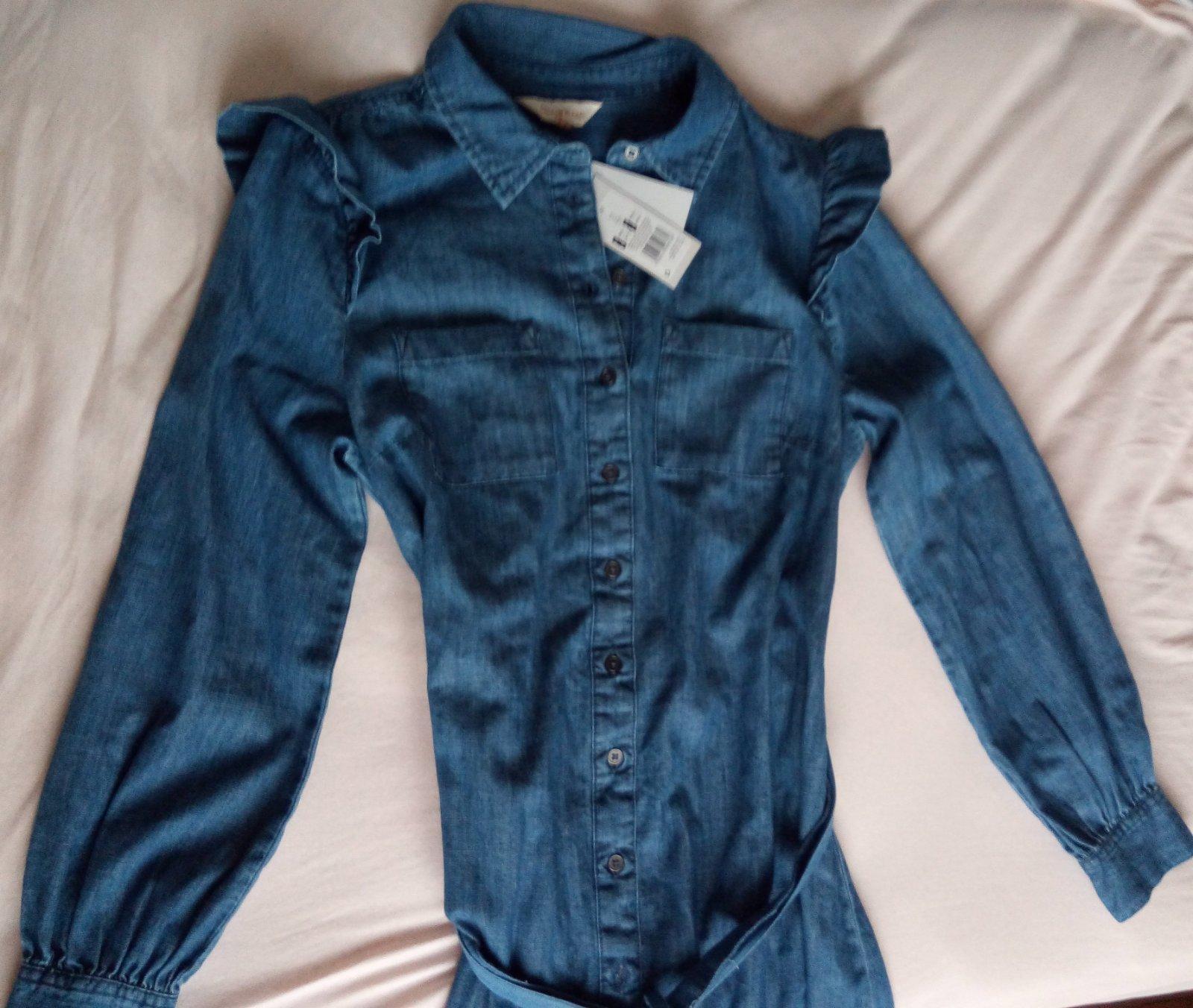 Džínsové/rifľové šaty F&F, S - Obrázok č. 3