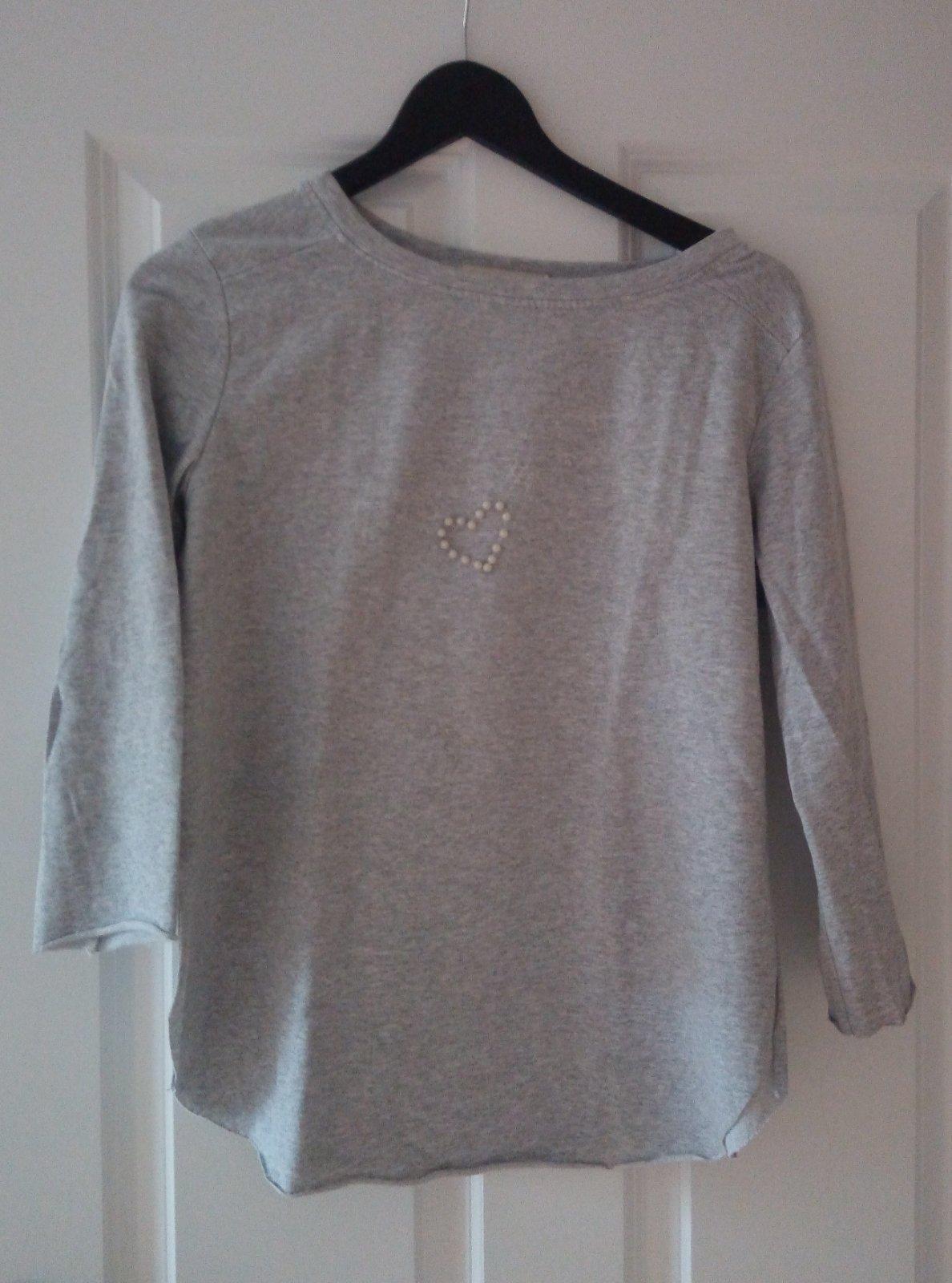 Sivá mikina/tričko S/M - Obrázok č. 1