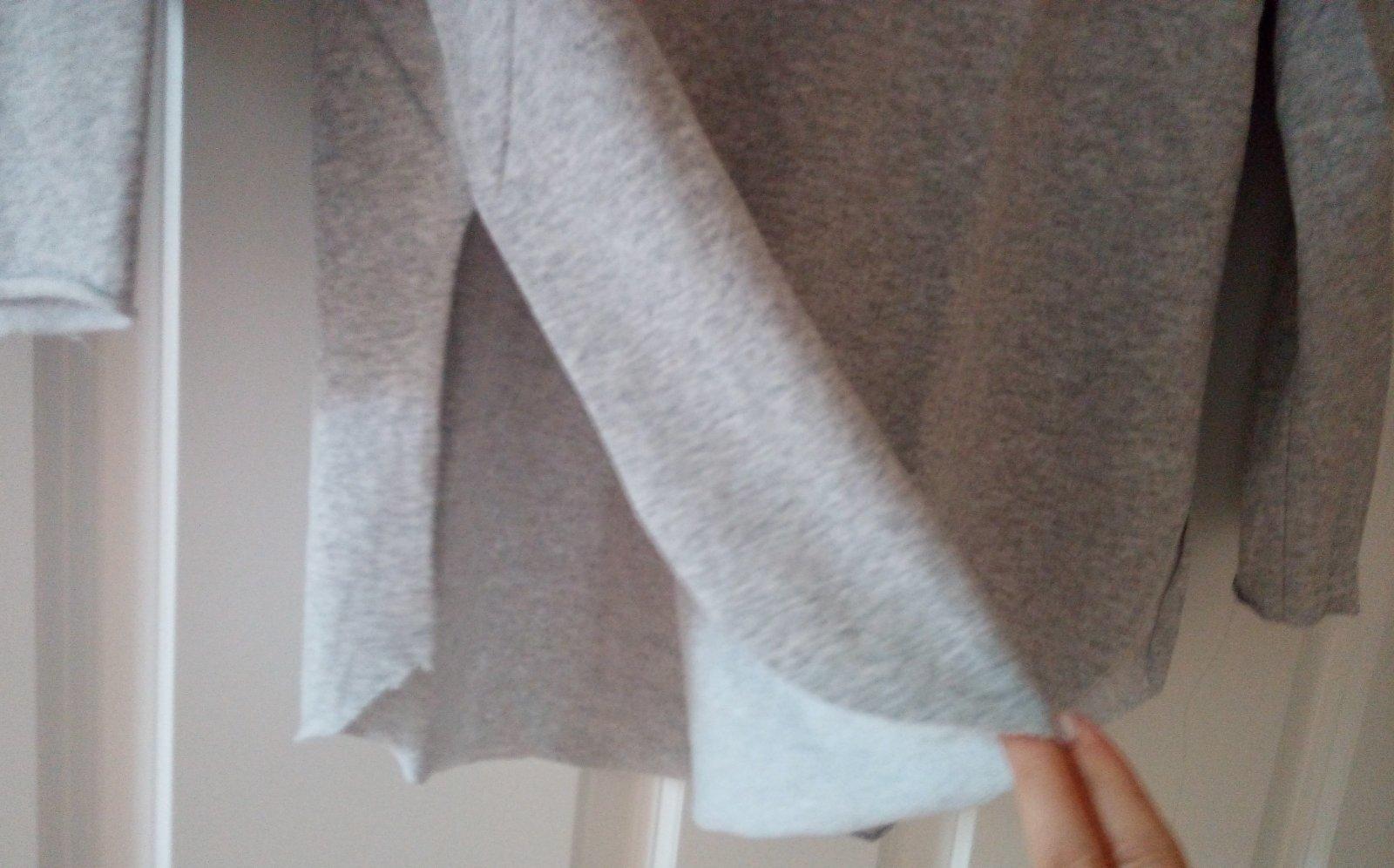 Sivá mikina/tričko S/M - Obrázok č. 2