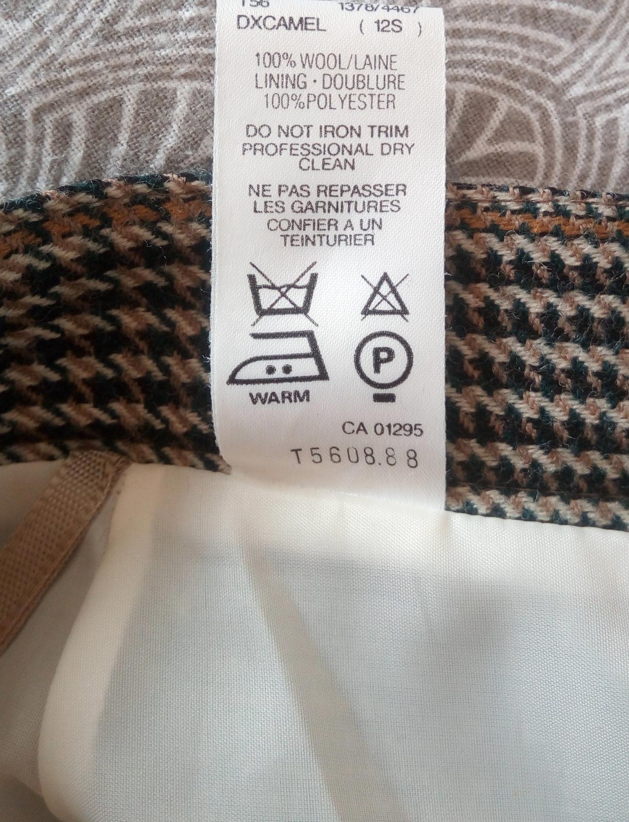 Vlnená károvaná sukňa S - Obrázok č. 3