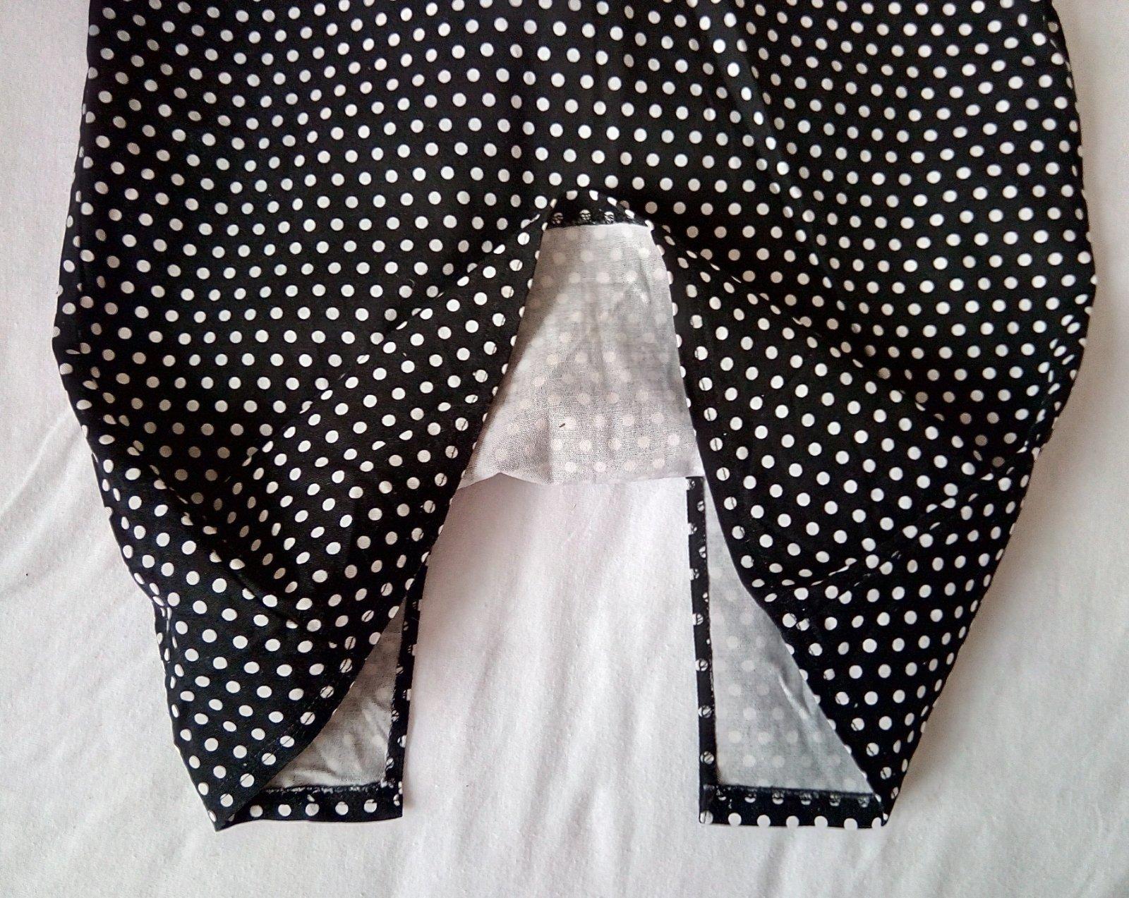 Čierne bodkované šaty XS - Obrázok č. 3
